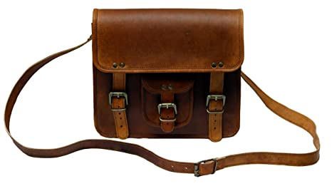 c1129b776551 Image Unavailable. Image not available for. Color  TLC 11 quot  Inch Leather  Messenger Bag Laptop Bag Crossbody Bags for Men ...