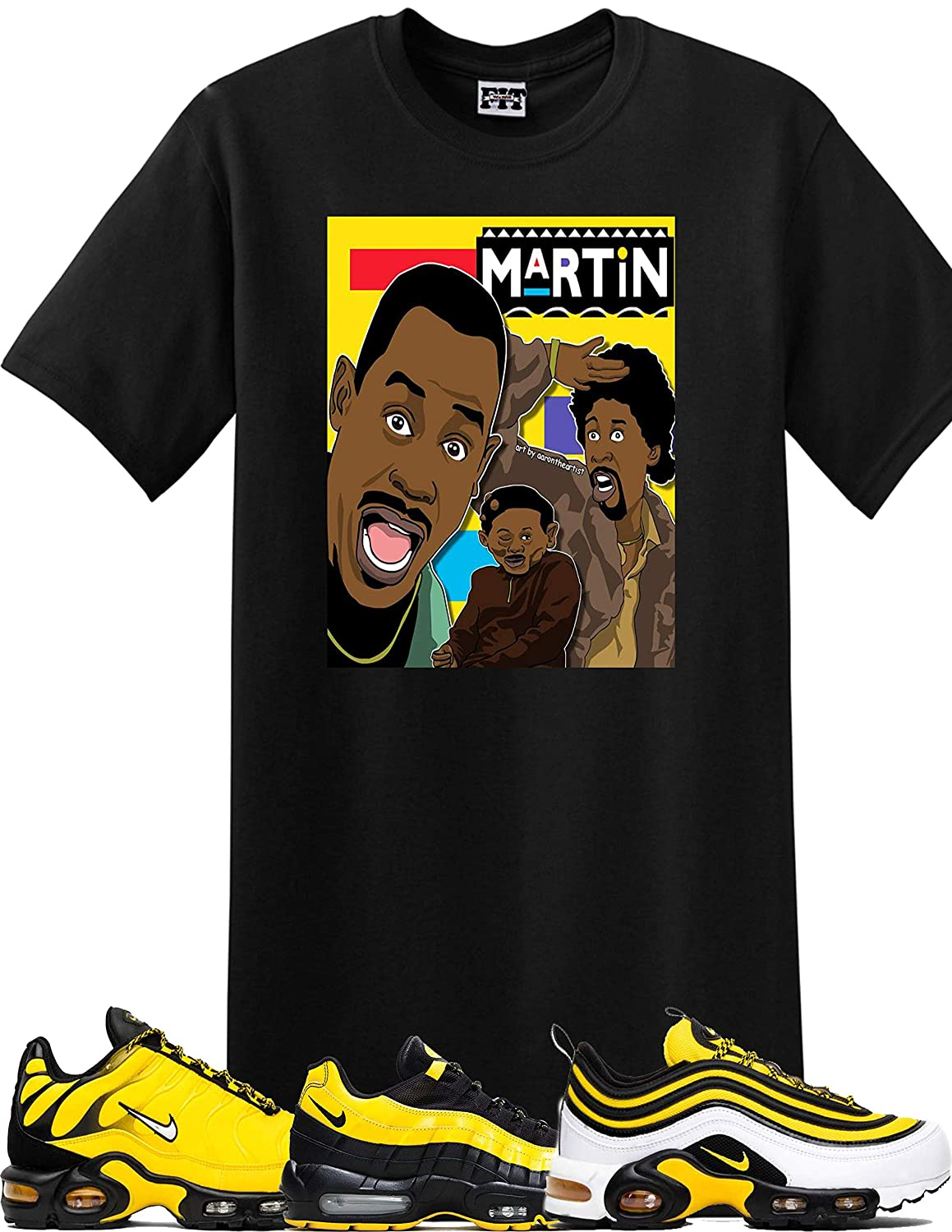 quality design 6fd37 d5682 We Will Fit Martin Shirt to Match The Nike Air Max 95 Yellow Frequency Pack  Tour 97 airmax Plus TN   Amazon.com