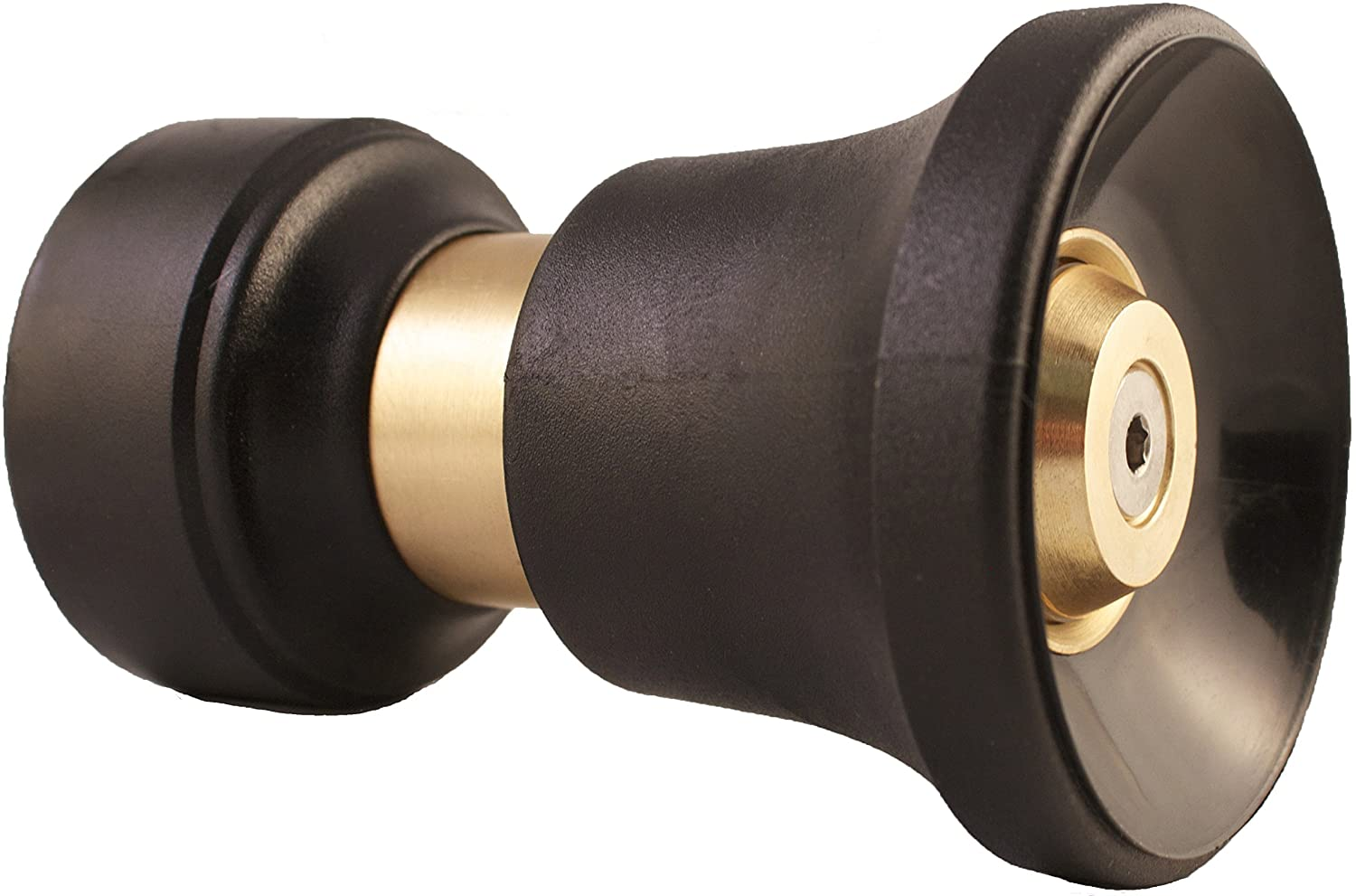 Dradco Heavy Duty Brass Fireman Style Hose Nozzle - Fits All Standard Garden Hoses - Best High Pressure Sprayer to Wash Your Car or Water Your Garden – Leak Proof - 30 Day No-Hassle Guarantee: Automotive