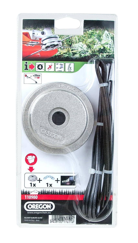 OREGON 110980 Universal aluminio fijo cortadora de cabeza con ...