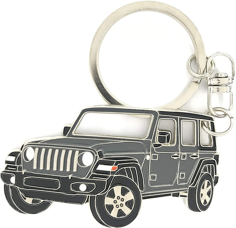 Jeep Wrangler Steering Wheel Key Chain Keychain Keyfob