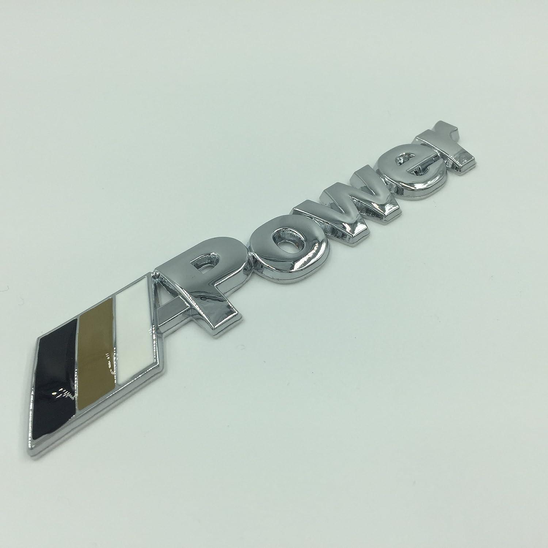 M Power Sport Tech Performance Style Logo Car Decoration Griile Grilles Bonnet Hood Alloy Metal Power Badge Emblem fits most make and models 3D Chrome////// Power Car styling,
