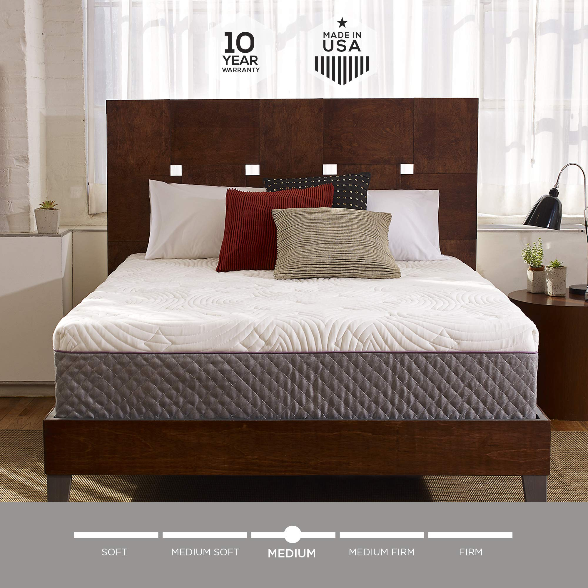 Sleep Innovations Shiloh 12-inch Memory Foam Mattress, Bed in a Box, Quilted Cover, Made in The USA, 10-Year Warranty - King Size by Sleep Innovations