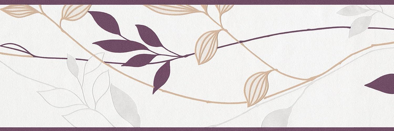 gr/ün nat/ürlich creme grau Cr/éation Bord/üre Avenzio A.S 249623 floral