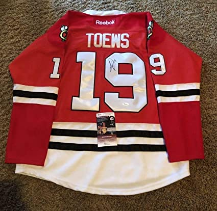 huge discount d9211 864a7 Jonathan Toews Autographed Signed Jersey Chicago Blackhawks ...
