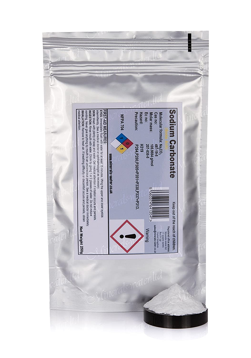 250g Sodium carbonate powder (soda ash)PH+,dye fixative Minerals-water