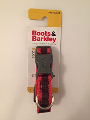 Boots & Barkley Small Adjustable Orange and Brown Dog Collar