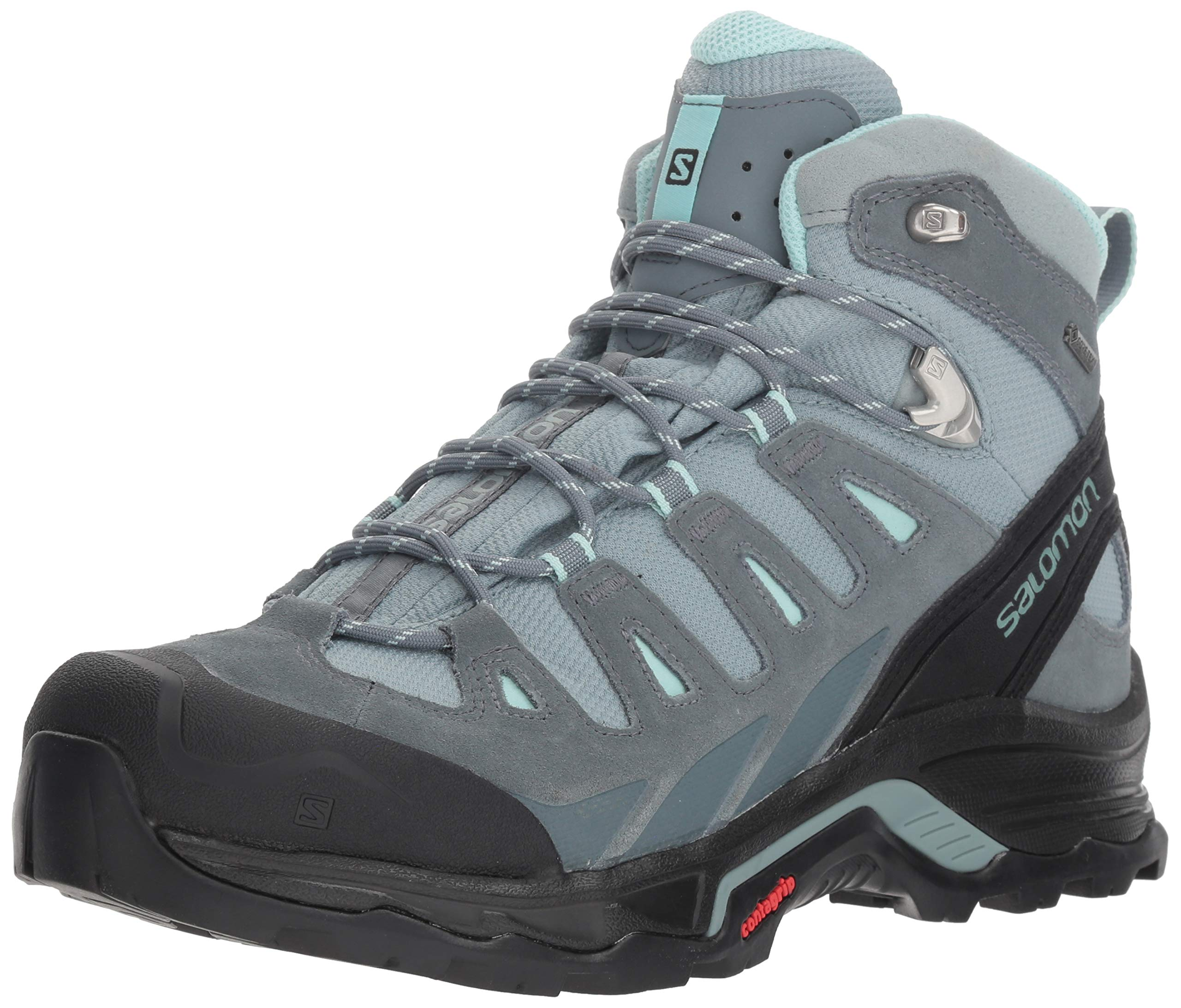 SALOMON Women's Quest Prime GTX W Backpacking Boot, Lead/Stormy Weather/Eggshell Blue, 8.5 M US by SALOMON