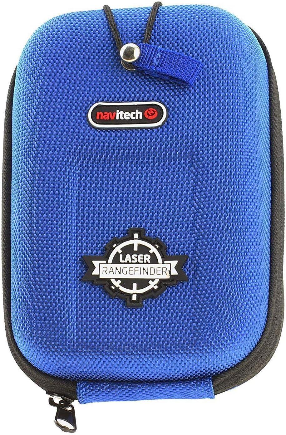 Navitech Estuche Rígido/Tapa Azul EVA Telémetros con Mosquetón Compatible con El Nikon Golf- Coolshot 20 Laser Telémetros