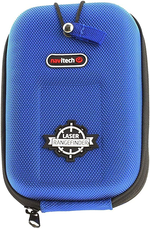 Navitech Blue EVA Rangefinder Hard Case/Cover with Carabiner Clip Compatible with The Precision Pro Golf NX7 Rangefinder
