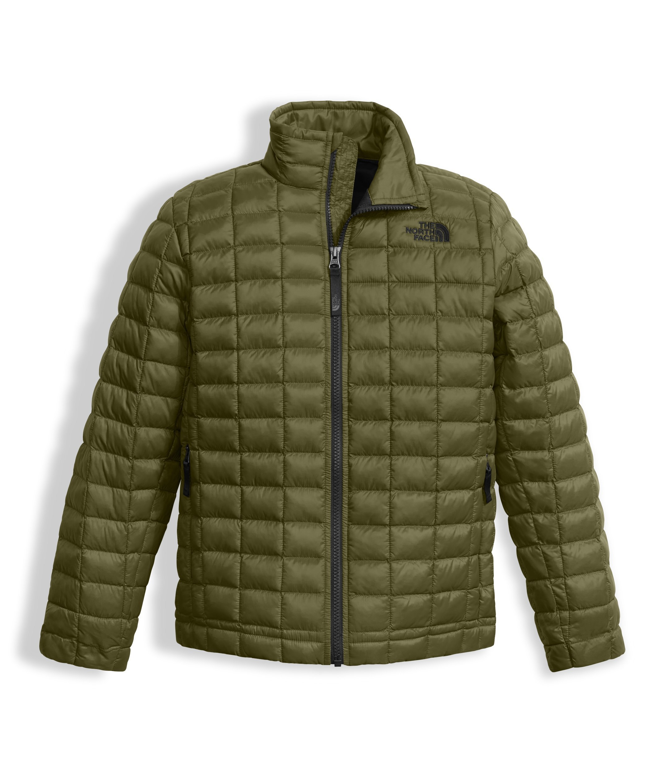 The North Face Boy's Thermoball Full Zip Jacket - Burnt Olive Green - M (Past Season)