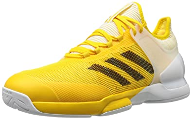 adidas Men s Adizero Ubersonic 2 Tennis Shoes Equipment Yellow Black White  (9.5 M 515098c53