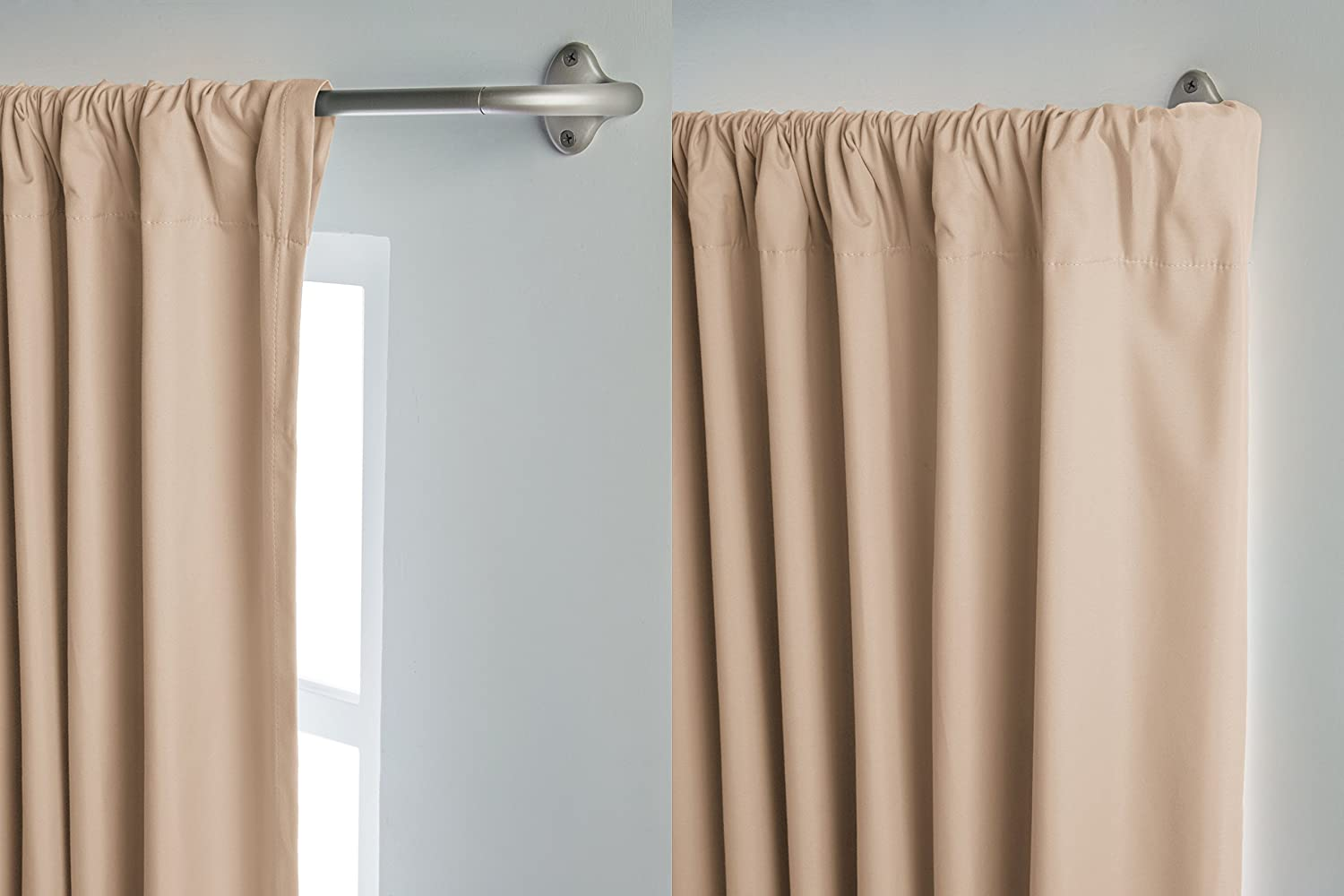 "AmazonBasics Room-Darkening Curtain Rod - 48"" to 88"", Nicke"