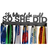 Miayork 2020UPGRADE Medal Holder Display Hanger Rack Medals-Black Medal Holder Wall Mount Easy to Install Race Runner…