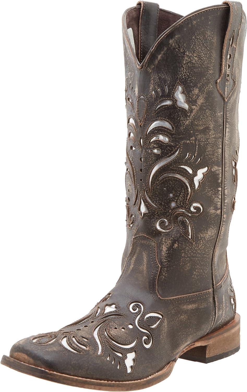Roper Women's Metallic Underlay Western Boot