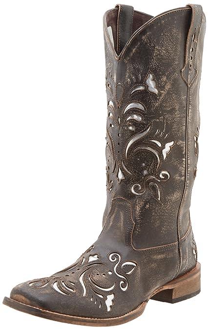 6646df5c951 Roper Women's Metallic Underlay Western Boot