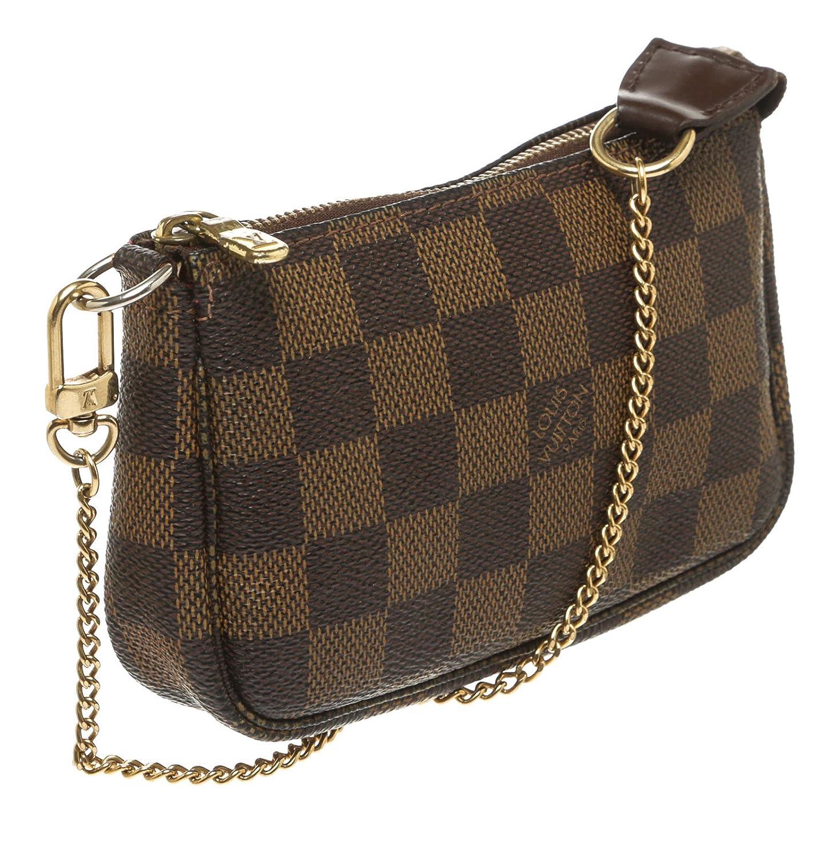 29eaff3a44 Louis Vuitton Damier Ebene Mini Pochette Chain Handle: Amazon.co.uk: Luggage