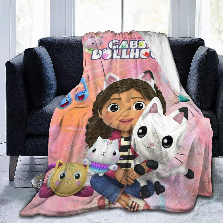 Gabby's Dollhouse Micro-Pile Blanket, Dibass Sofa Blanket, Four Seasons Living Room Blanket, Travel Blanket,Three Sizes to Choose from