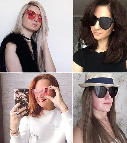 Amazon.com: clásico Cat Eye Mujeres Eyewear Oversized Ronda ...