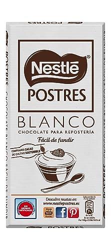 Nestlé POSTRES Chocolate Blanco para fundir - Tableta de chocolate ...