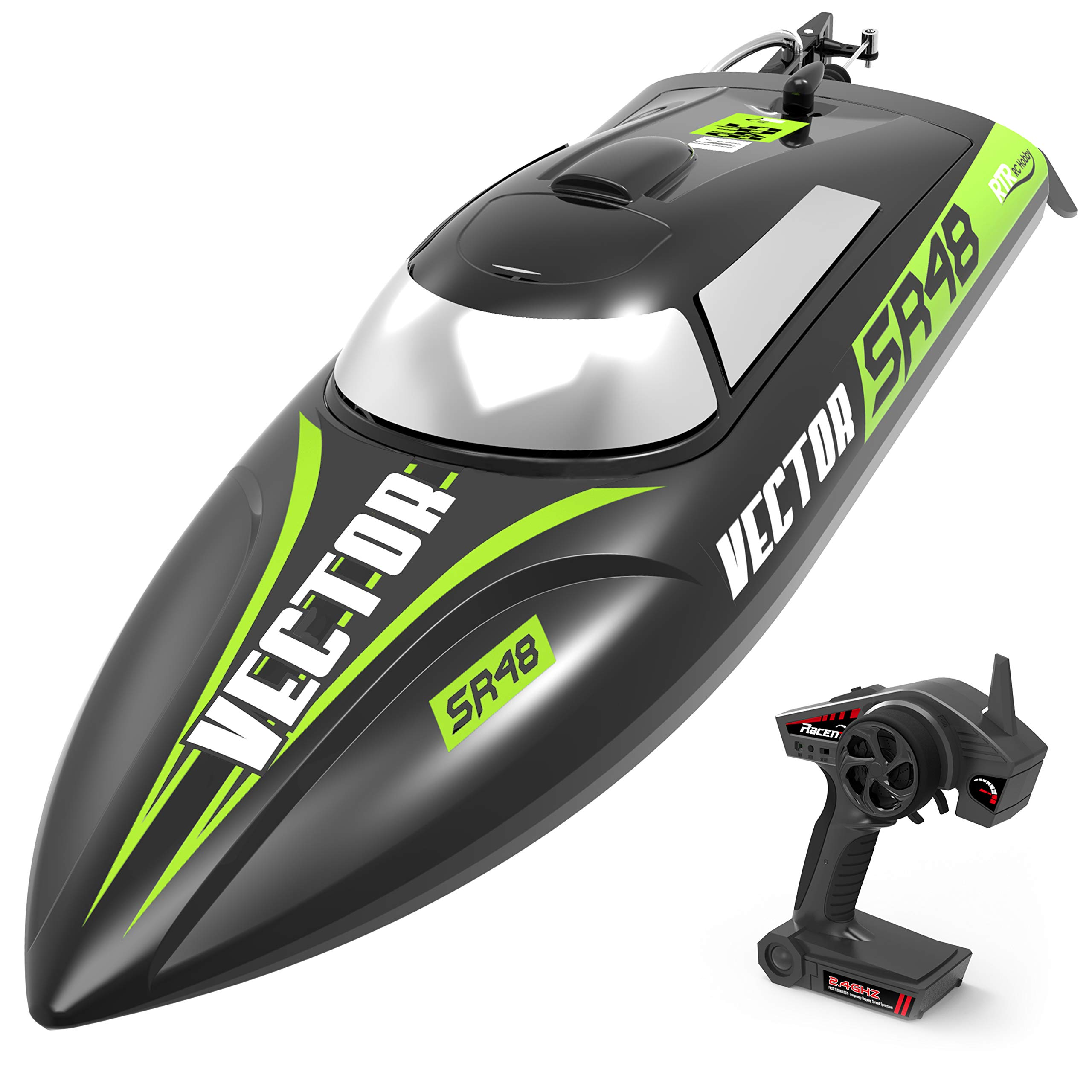 VOLANTEXRC Brusheless RC Boat 45km/h High Speed Remote Control Boat Vector SR48 with Self-Righting Reverse Function in Pools, Lakes & Rivers for Kids and Adults (797-3 RTR Brushless)
