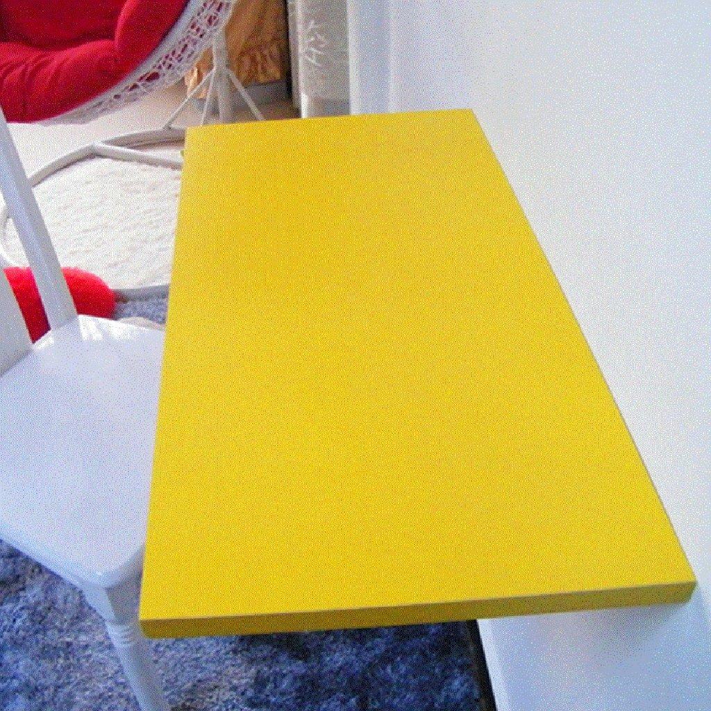 壁掛けラップトップデスク多機能壁掛けテーブルダイニングテーブル60 * 30cmペイント折り畳み式コンピュータデスク学習テーブルサイズオプション ( 色 : イエロー いえろ゜ ) B07B73XKTD イエロー いえろ゜ イエロー いえろ゜