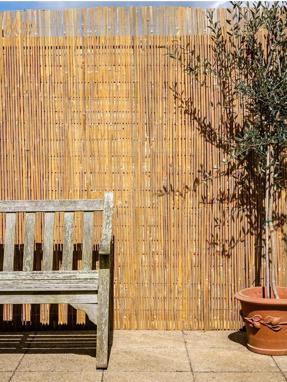 Primrose London - Mampara de tiras de bambú para jardín (4 x 1 m ...