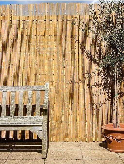 Primrose London - Mampara de tiras de bambú para jardín (4 x 1 m): Amazon.es: Jardín