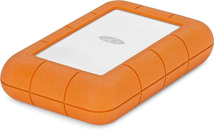 LaCie Rugged Mini 4 TB External Hard Drive Portable HDD USB 3.0 USB 2.0 Compatible Drop Shock Dust Rain Resistant Shuttle Drive /&  Basics External Hard Drive Case