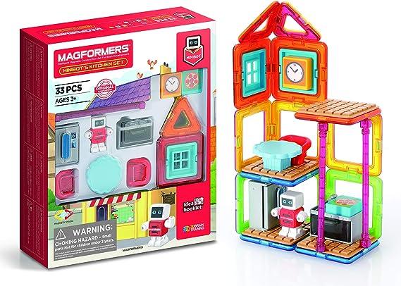 Magformers- Minibots Kitchen Magnetic World Minibot´s, Multicolor (705010) , color/modelo surtido: Amazon.es: Juguetes y juegos
