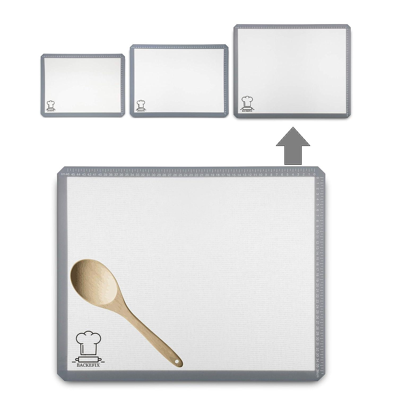 BackeFix Zero Waste silicone baking mat no baking paper nor grease - non-stick reusable baking foil (40x30cm) Tapis de cuisson