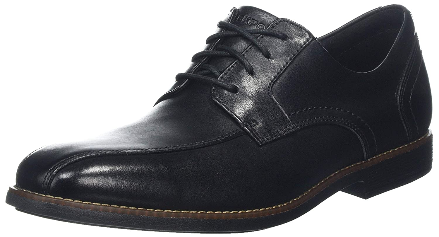 Rockport Slayter Bike Toe Black, Zapatos de Cordones Derby para Hombre