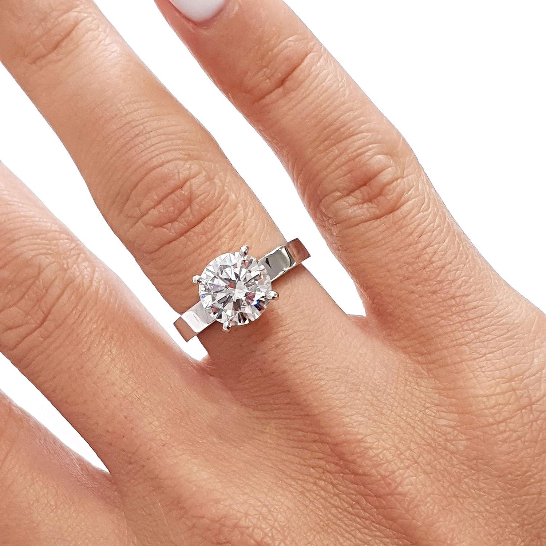 2 Carat Round Diamond Engagement Ring Diamond