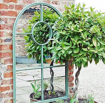 Bowley and Jackson Verde Retro Arco Ventana Espejo de jardín: Amazon.es: Hogar