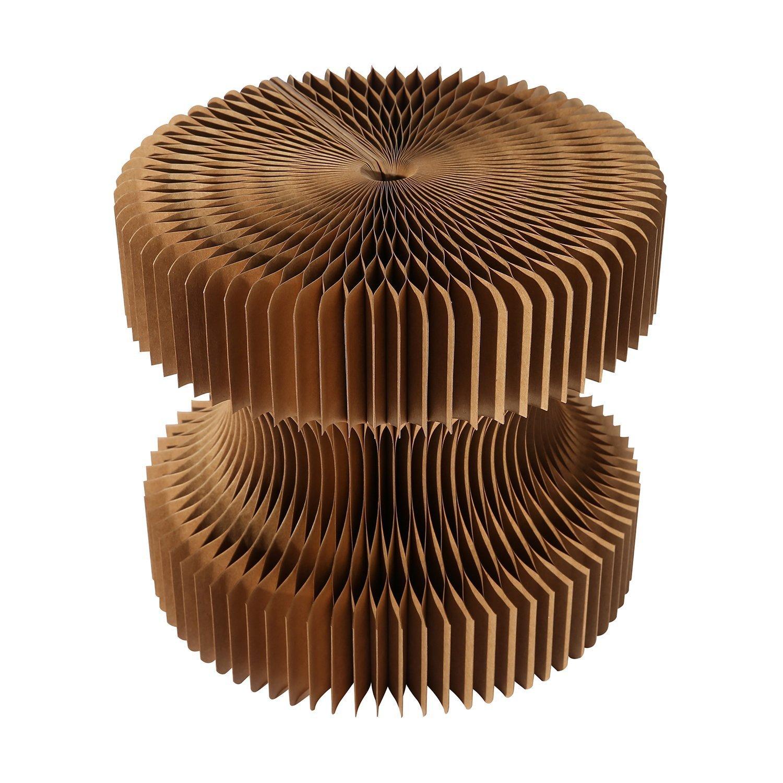 Weshine Tragbar softseating Fanning Wasserdicht und hexagonaler Wabenstruktur Papier Klappsessel (28 cm) braun