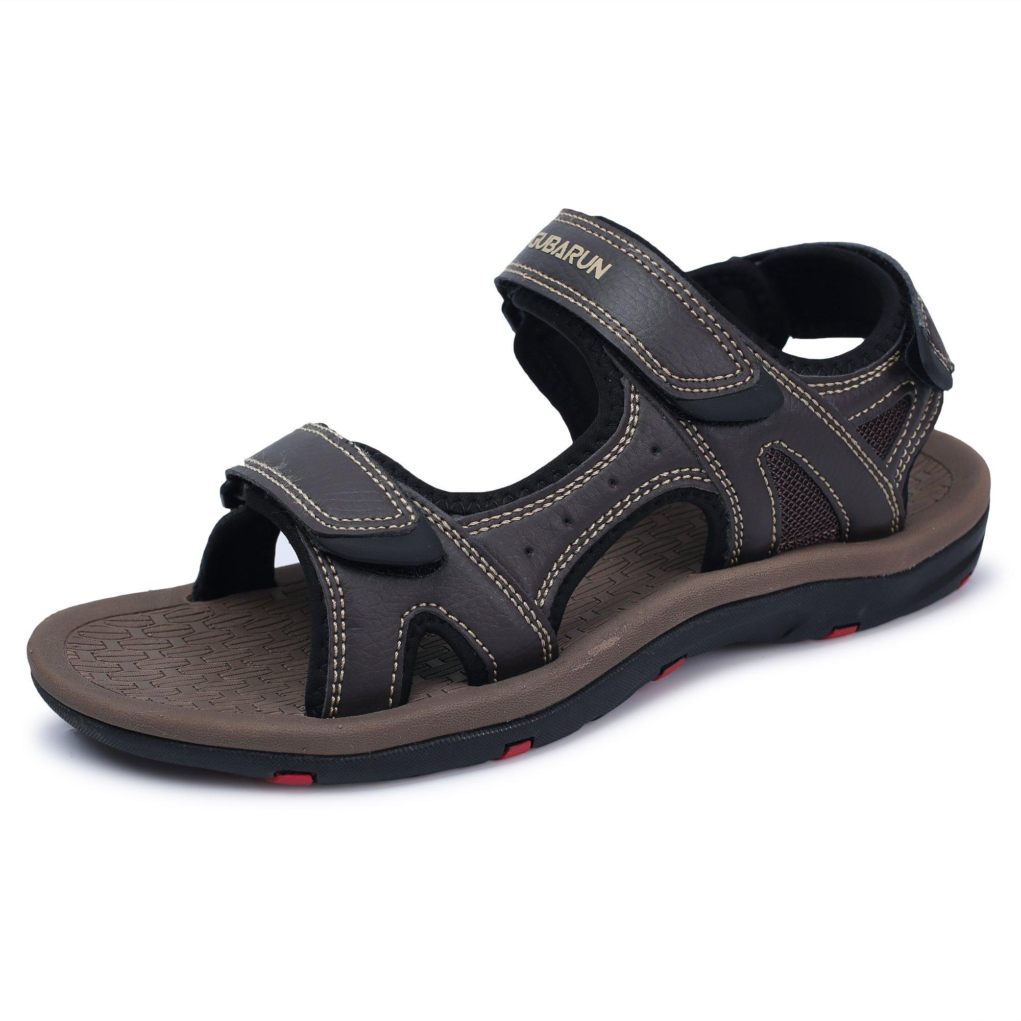 GUBARUN AthleticSandalsforMenOpen-ToeSandalsStrapSummerShoes(Coffee 10.5)