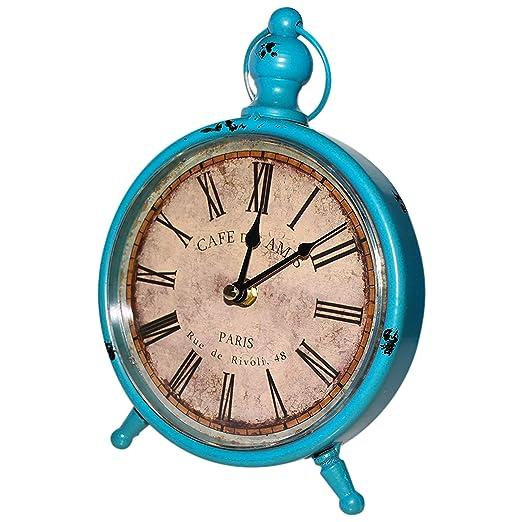 BELLE VOUS Retro Vintage Reloj de Escritorio 23x16,5cm - Reloj de ...