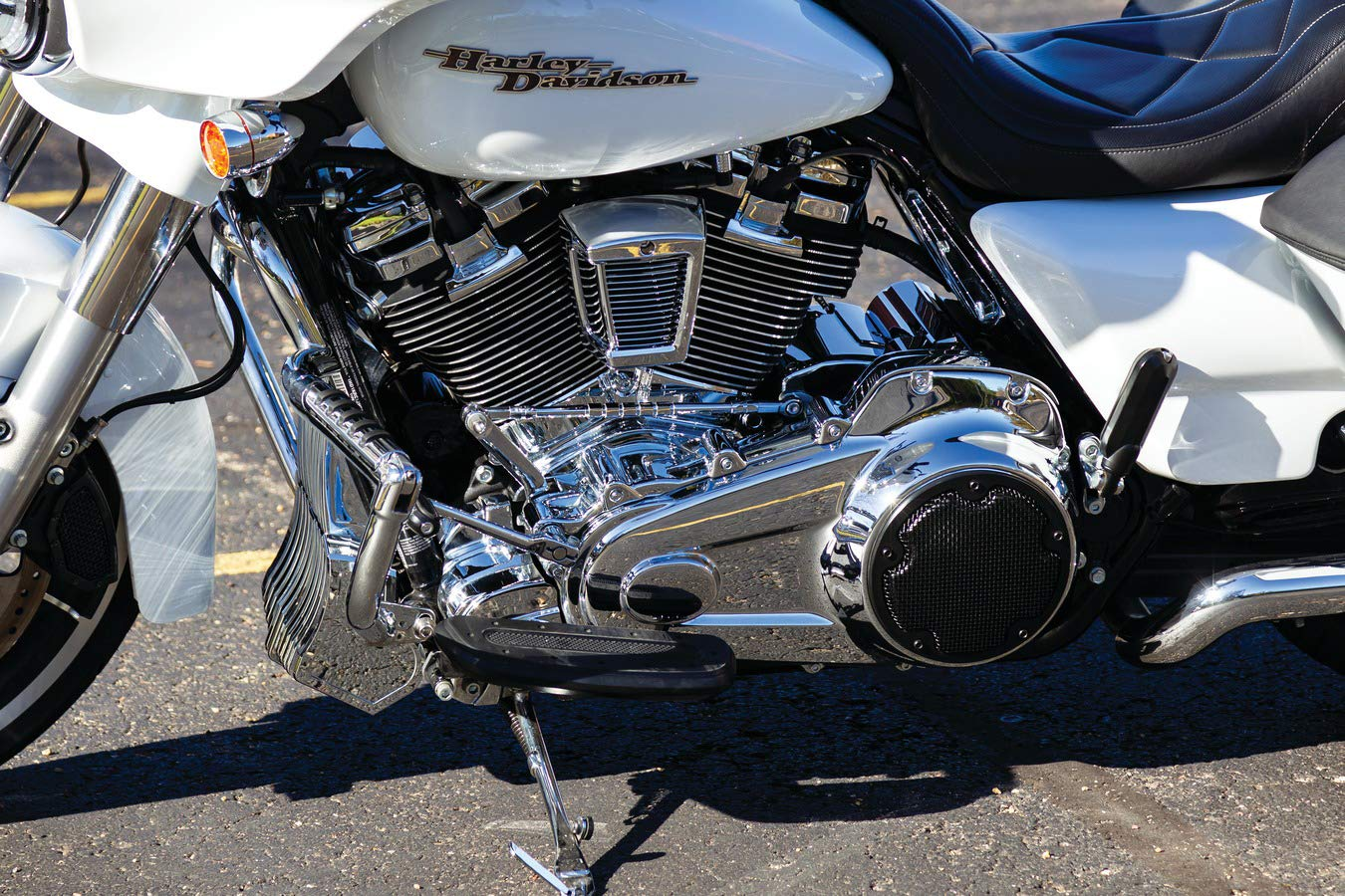 Kuryakyn 6414 Chrome Precision Cover for Harley Stock Coolant Pump on 2017-2018 Twin Cooled Milwaukee-Eight Electra Road Ultra and Tri Glides