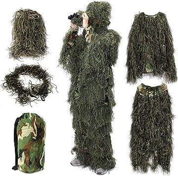 Amazon.com: NUOWEI Traje de pato Ghillie 3D Leaf Realtree ...