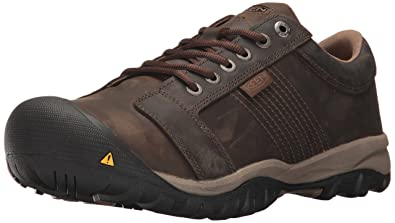 KEEN Utility Men's LA Conner AT ESD Industrial and Construction Shoe,  Cascade Brown, 7