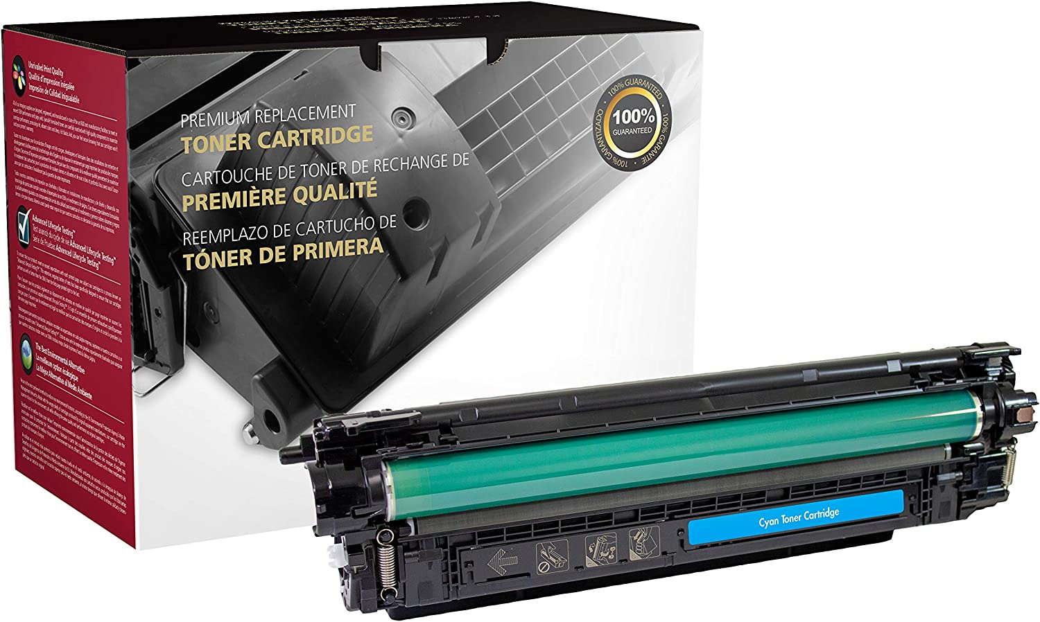 Inksters Remanufactured Cyan Toner Replacement for HP CF361A (HP 508A) for use with HP Color Laserjet Enterprise M553DN M553N M553X Color Laserjet Enterprise MFP M577DN M577F Flow M577-5 k Pages