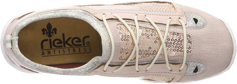 Rieker Women/'s L2571 Trainers Pink