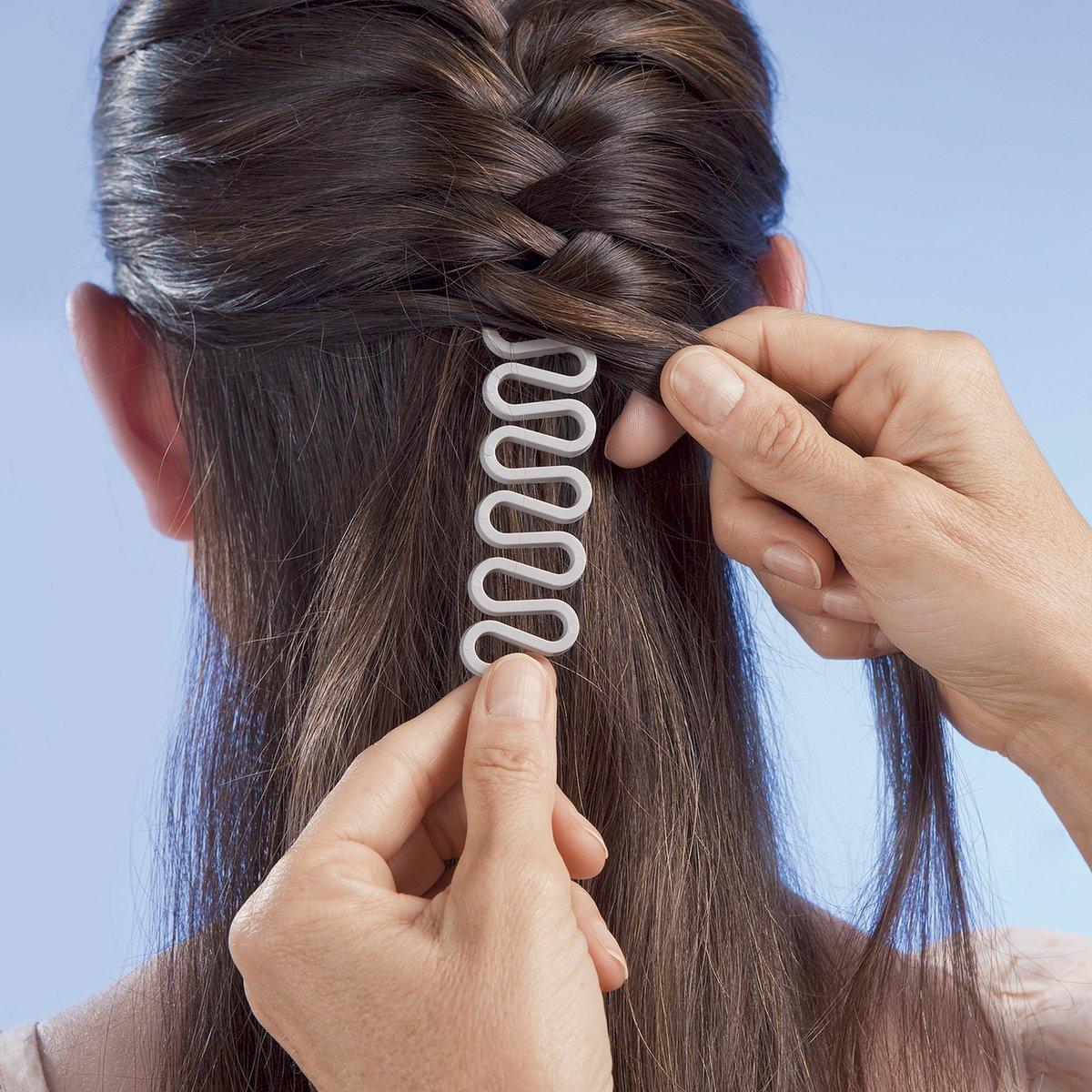 ANKKO Stylish French Hair Braided Styling Tool Hair Roller Braiders Magic Hair Twist Tool (White)