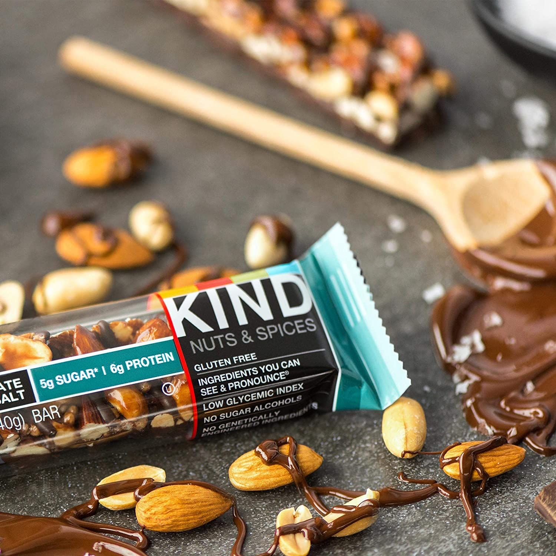 Kind Nut & Spice Bar Dark Chocolate Nuts & Sea Salt 40 g (Pack of 12): Amazon.es: Salud y cuidado personal