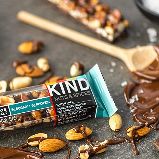 Kind Nut & Spice Bar Dark Chocolate Nuts & Sea Salt 40 g (Pack of 12): Amazon.es: Salud y cuidado personal