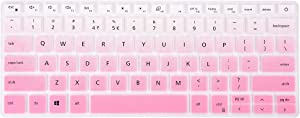 KeyCover - Keyboard Cover Compatible with Dell Inspiron 13 5390 5391 7300 7390 7391, Inspiron 14 5490 5493 5498 7490, Inspiron 13 5000 7000, Vostro 13 5390 5391 5490 Laptop - Gradual Pink