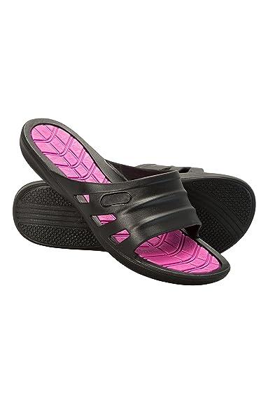 Mountain Warehouse Pantoletten für Damen - Leichte Damensandalen, Eva-Fußbett, Atmungsaktiv, Schuhe Zum Schlüpfen - Für Reisen und Tägliches Pendeln Schwarz 40 EU