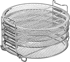 Dehydrator Stand For Ninja Foodi Accesories, 6.5 qt & 8 qt, Food Grade Stainless Steel (6.5&8)