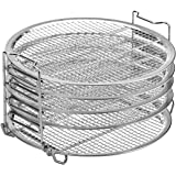 Kispog Dehydrator Rack For Ninja Foodi 6.5 & 8 qt, Instant Pot Duo Crisp 8 qt. Food Grade Stainless Steel