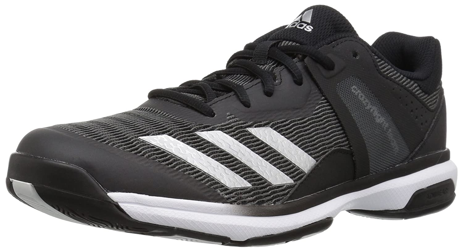 adidas Women's Crazyflight Team Volleyball Shoe B01N9HCLD0 12.5 M US|Black/Metallic Silver/Black